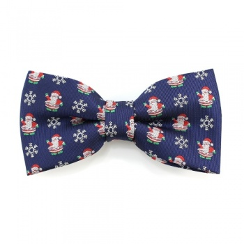 Santa and Snowflake Christmas Bow Tie